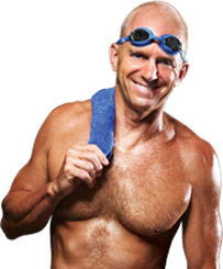 Rowdy Gaines, Three Time Olympic Gold Medalist, Loves SwimMirror